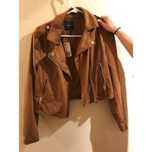 suede jacket with silver brads